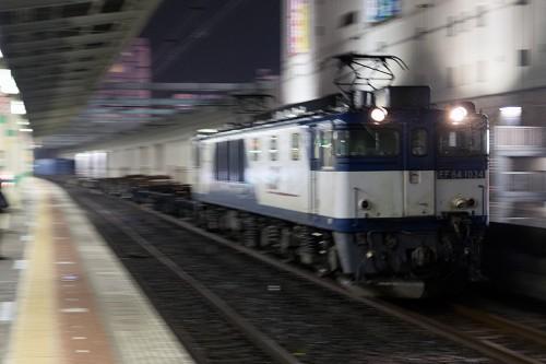 2015.2.17 22:31撮影 5971レ 市川駅