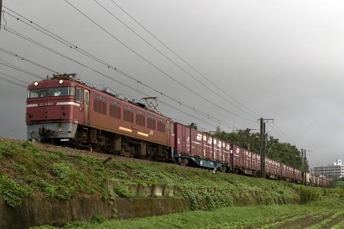 2015.8.22 6:34撮影 4073レ 天拝山~原田間