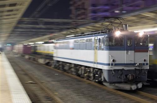 2015.11.9 18:30撮影 1090レ 市川駅