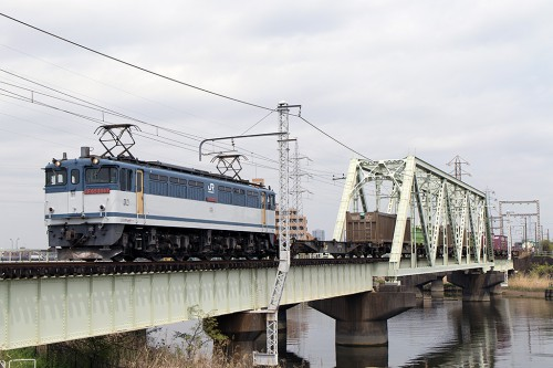 EF65-2087 中川橋梁