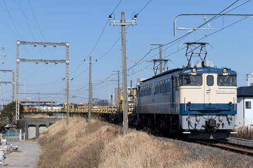 EF65-1104 金町~新小岩(信)間