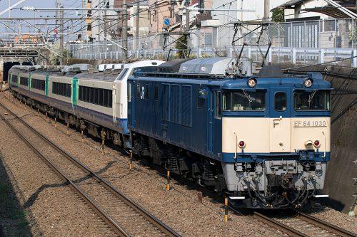 EF64-1030 485系廃車回送
