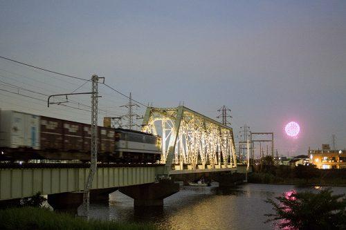 2017.7.25 19:24撮影 1090レ 金町~新小岩(信)間(後追い)