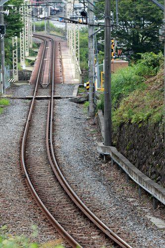 上り列車方向 35mm換算相当(APS-C 135mmで撮影)