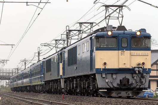 EF64-1053+EF64-1052 9731レ 沼田~後閑間