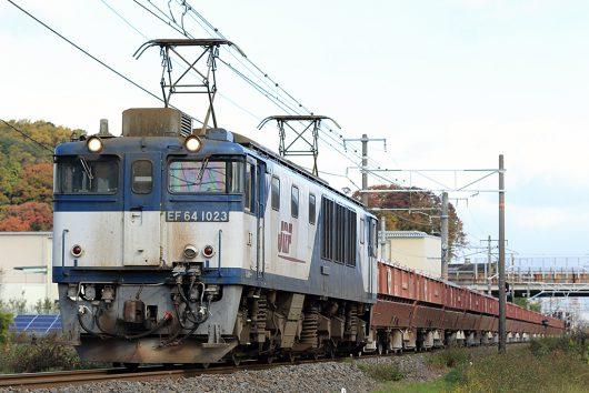 EF64-1023赤ホキ 5781レ 美濃赤坂駅