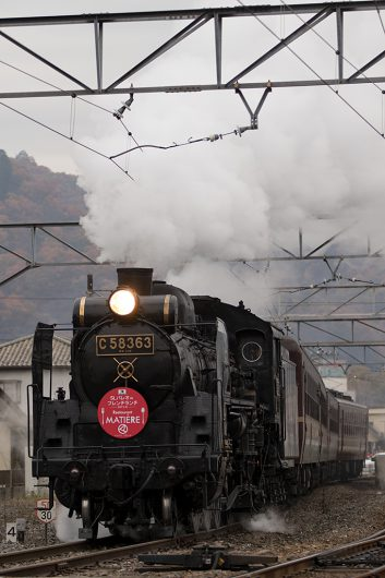 C58-363長瀞発車 5002レ 長瀞駅