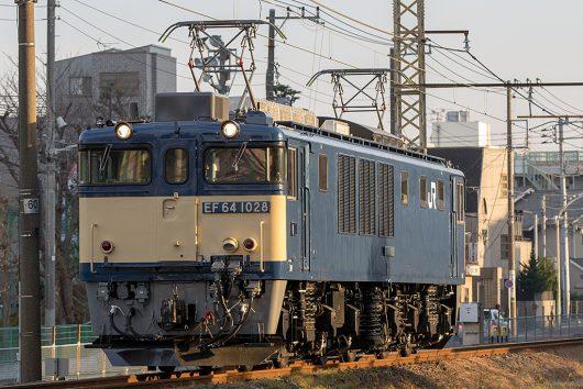 EF64-1028単機 単1094レ 新小岩(信)~金町間