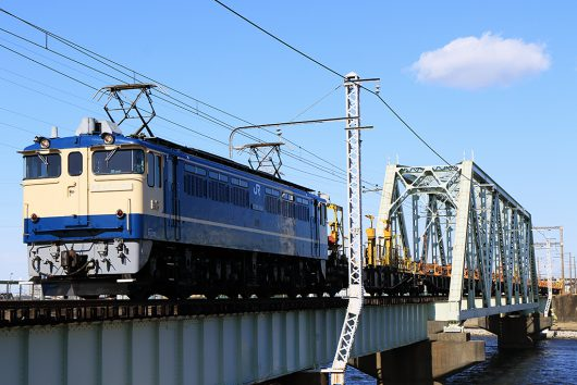 EF65-1104 工9862レ 金町~新小岩(信)間