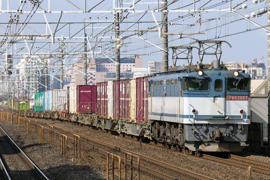 EF65-2057 1093レ 本八幡駅