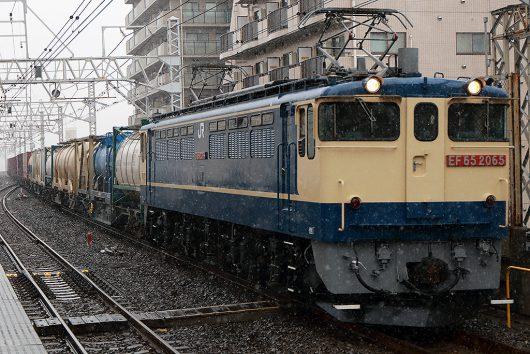 EF65-2065 1093レ 市川駅