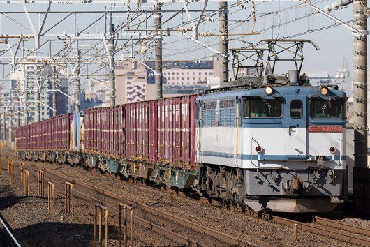 EF65-2080 1093レ 本八幡駅