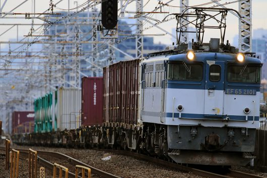 EF65-2101 1091レ 小岩駅