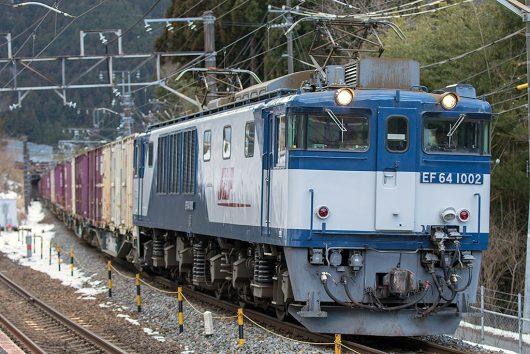 EF64-1002 81レ 十二兼駅