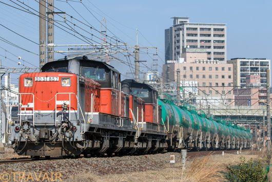 DD51-857 8079レ 桑名~朝明(信)間