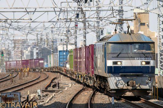 EF210-112 1091レ 市川駅