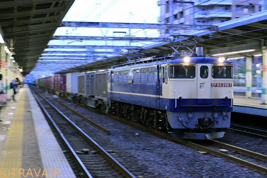 EF65-2067 1090レ 市川駅