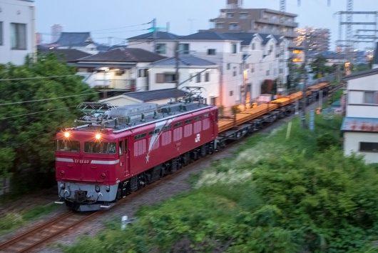 EF81-80 工9865レ 新小岩(信)~金町間