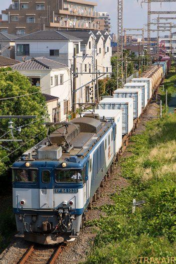 EF64-1035 1094レ 新小岩(信)~金町間