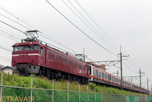 EF81-136 配9835レ 東川口~南越谷
