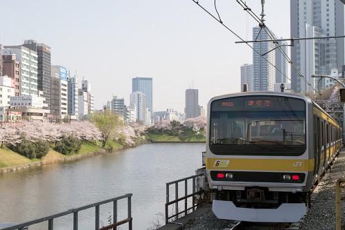2015.3.31 8:42撮影 市ヶ谷駅