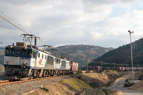 EF64-1047重連 81レ 落合川~坂下間