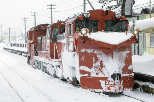 2016.2.18 15:10撮影 雪351レ 和寒駅
