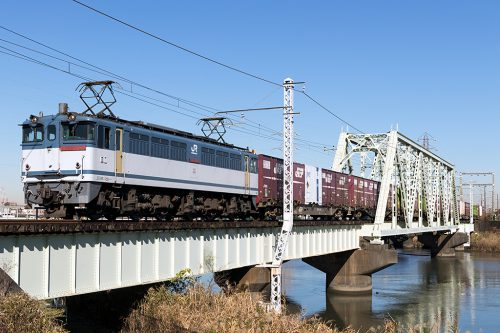 EF65-2092 中川橋梁