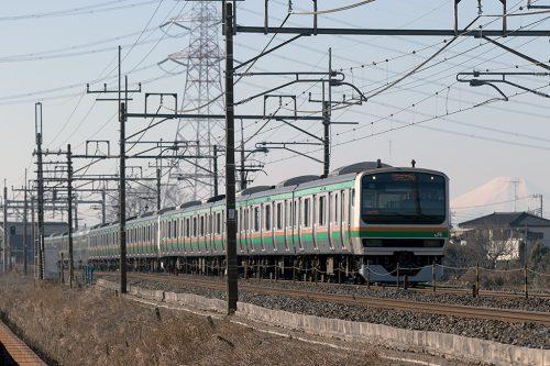 E231と富士山