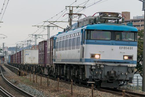 EF81-451 59レ 千早(操)~箱崎間