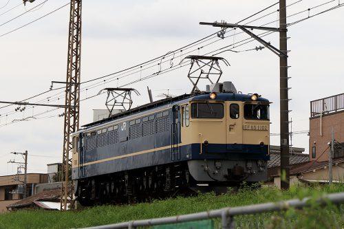 EF65-1102単?レ 金町~新小岩(信)間