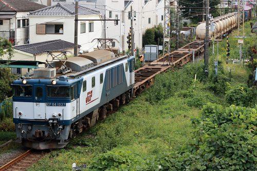 EF64-1037 新小岩(信)~金町間