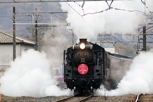 C58 長瀞発車 5002レ 長瀞駅