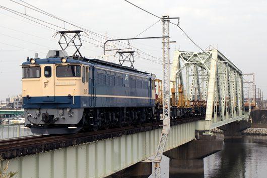 EF65-1105 工9864レ 金町~新小岩(信)間