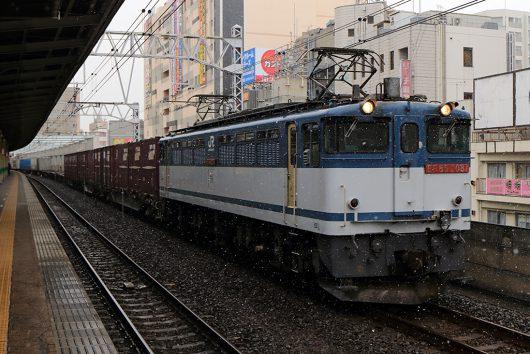 EF65-2081 1091レ 市川駅