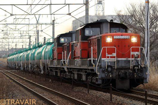 DD51-1028重連 8072レ 朝明(信)~朝日間