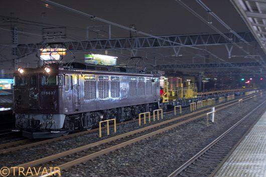 EF64-37 工9871レ 金町駅