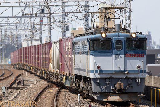 EF65-2076 1093レ 市川駅
