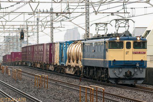 EF65-2067 1091レ 小岩駅