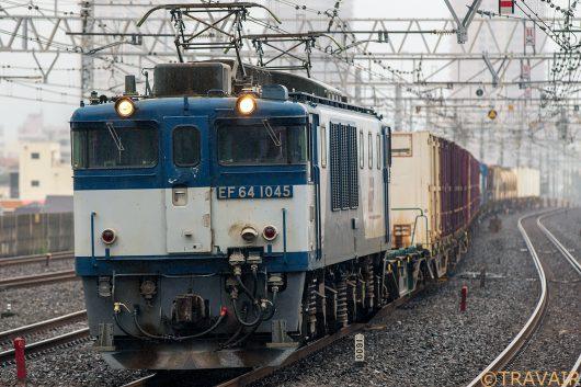 EF64-1045 1094レ 市川駅