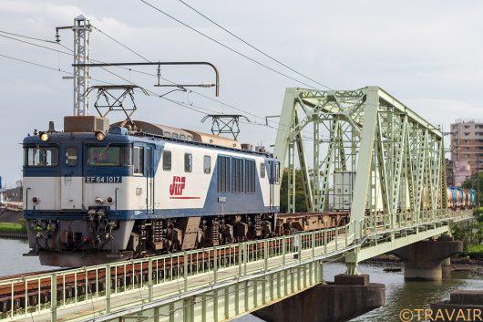 EF64-1017 1094レ 新小岩(信)~金町駅
