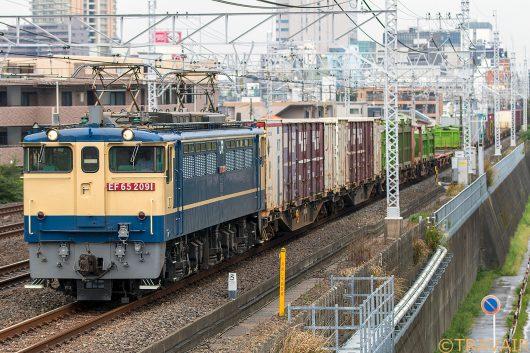 EF65-2091 1091レ 船橋~東船橋間