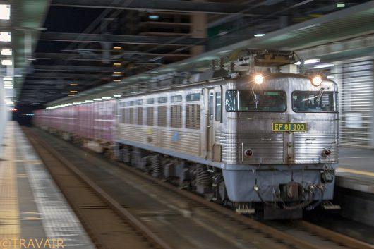 EF81-303 1062レ 吉塚駅