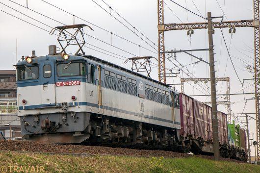 EF65-2060 1091レ 金町~新小岩(信)間