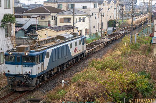 EF64-1018 1094レ 新小岩(信)~金町間