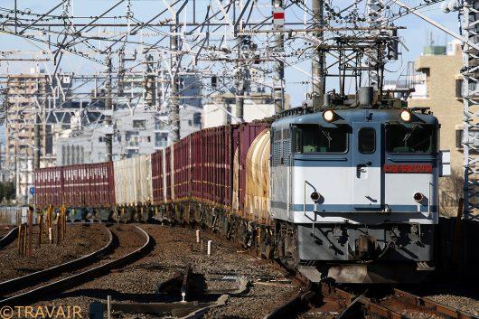 EF65-2083 1093レ 市川駅