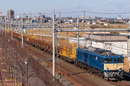 EF64-1053 工9872レ 吉川~吉川美南間