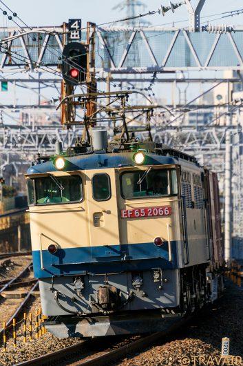 EF65-2066 1091レ 金町駅