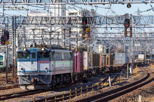 EF65-2085 1091レ 金町駅