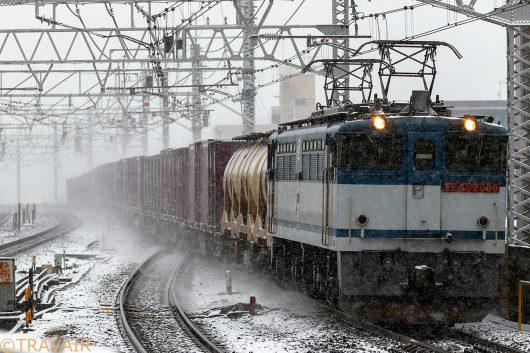 EF65-2080 1091レ 市川駅